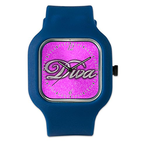 Navy Blue Fashion Sport Watch Pink Diva Princess by Royal Lion