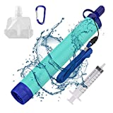 SimPure Personal Water Filter, Portable Water Filtration Straw,...