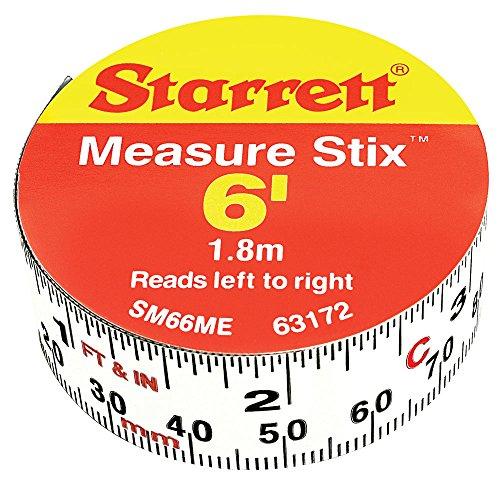 (Starrett SM66ME Adhesive Tape Measure, 3/4