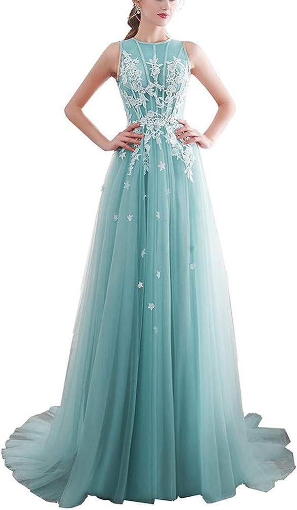 Yuki Isabelle Elegant Tulle A Line Bridal Dresses 2019 Floor Length Appliques Sweep Train Wedding Dress