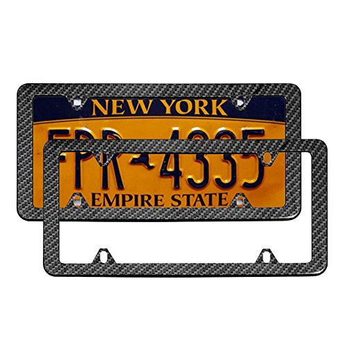 license plate frame fiber - 4