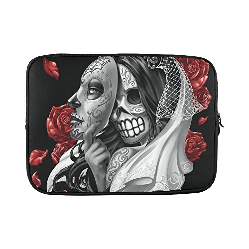 SLsenD-Custom-Day-Of-The-Dead-Dia-De-Sugar-Skull-Water-Resistant-Computer-Bag-Laptop-Sleeve-Notebook-Case-Cover-14-141-inch