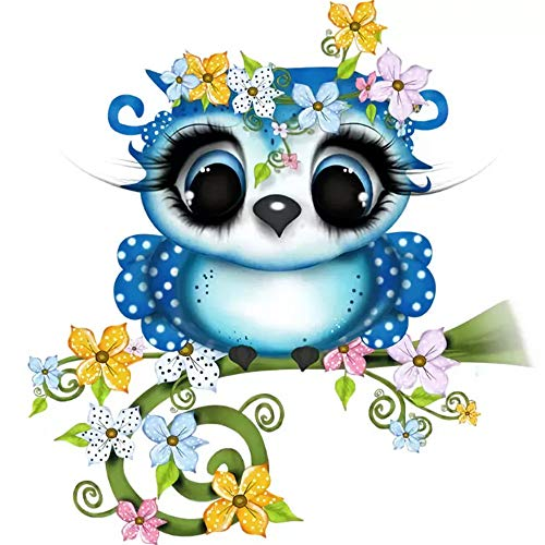 Hot Sale!DEESEE(TM)Owl Full Drill 5D 5D Embroidery Paintings Rhinestone Pasted DIY Diamond Painting Cross Stitch -
