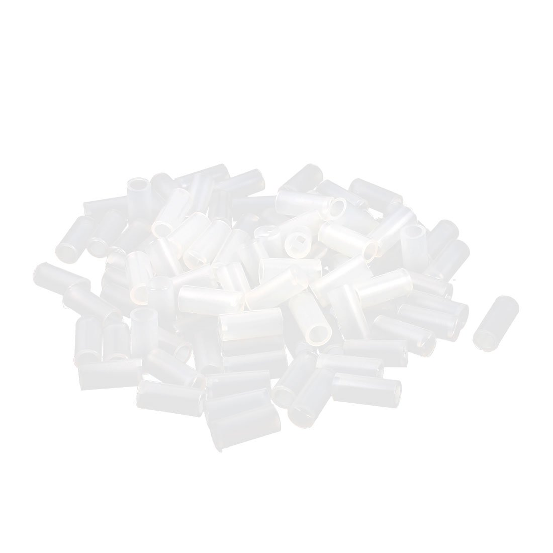 uxcell 100 Pcs Nylon Cylinder LED Spacer Holder Support 3mm x 9mm Clear