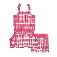 Burt's Bees Baby Baby Girls' Organic Slouch Pocket Dress and Bike Short Set, Watermelon, 12 Months