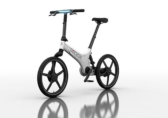 Bicicleta eléctrica plegable de diseño, GoCycle G3 blanca con base pack + Vuelo de regalo a Europa para 2 personas: Amazon.es: Deportes y aire libre