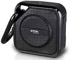TDK Life on Record Bluetoothワイヤレススピーカー アウトドアに強い防塵・防滴(IP64相当) NFC対応 TREK Microシリーズ フラストレーションフリーパッケージ (FFP)ブラック AT-A12BK-FFP