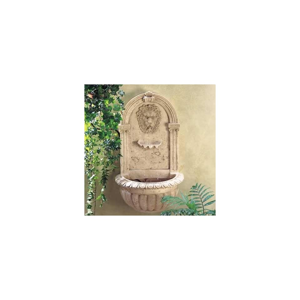 Greco Roman Lion Wall Fountain
