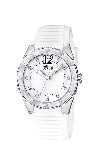 61acbf3a8ea6 Lotus 15732 1 - Reloj analógico de cuarzo para mujer con correa de caucho