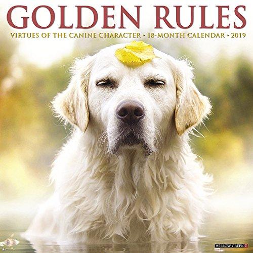 Golden Rules 2019 Wall Calendar (Dog Breed Calendar) (Just Golden Puppies)