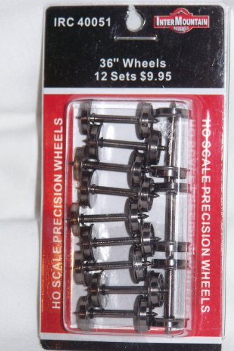 Intermountain 40051 HO scale Metal Wheels 36 standard 12 sets in package by HO Scale Preceision Wheels