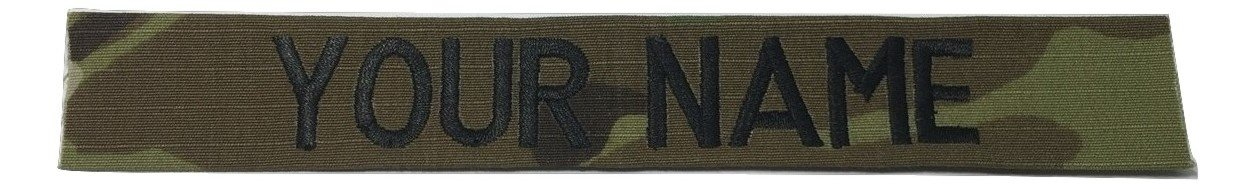 US Army Name Tape Or US Army Tape, with Fastener Or Sew-On, ACU, Multicam OCP, Black, OD Green, Desert Tan, White (Without Fastener, Multicam OCP)