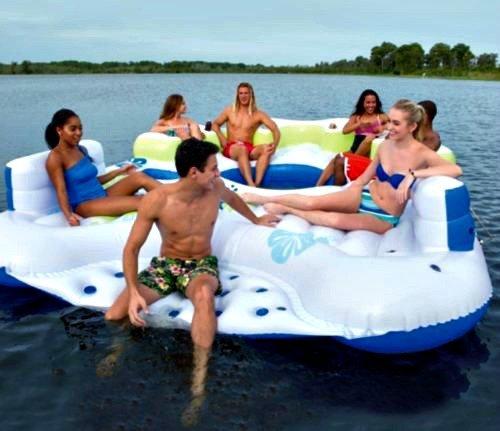 Bestway CoolerZ Inflatable Tiki Breeze Island HUGE 13.12 X 10.17 Feet by CoolerZ