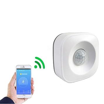 VIMOER PIR Sensor de Movimiento – Sensor de Movimiento WiFi PIR para Alarma de Seguridad del