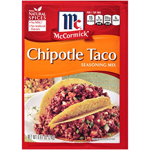 - McCormick Chipotle Taco Seasoning Mix, 0.87 oz (Pack of 12)