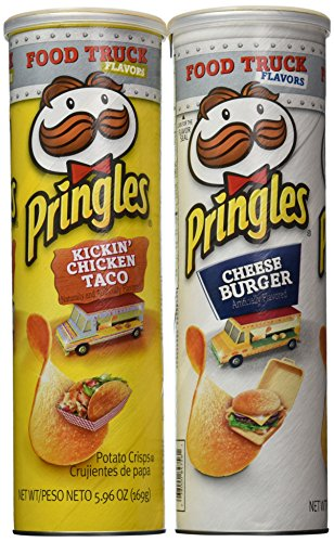 Bundle Of 4 Limited Edition Food Truck Flavor Pringles 2 Import