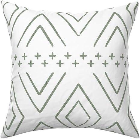 Farmhouse Diamonds by littlearrowdesign Black White Cotton Sateen Pillow Sham Bedding by Spoonflower Geometric Diamond Pillow Sham