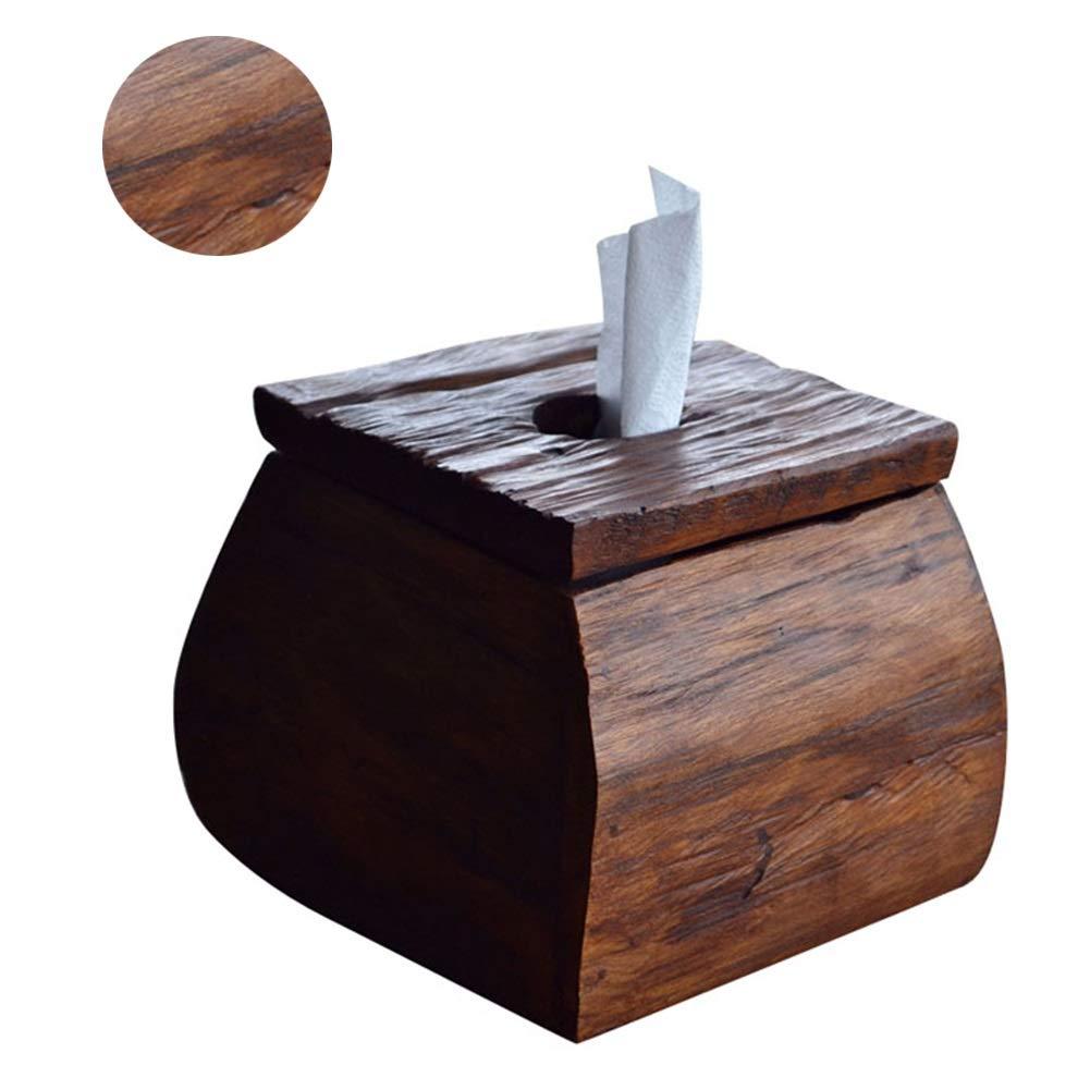 LYRJBD Porta Scatola di fazzoletti in Legno massello Carico Quadrato Scatola di fazzoletti di Carta Dispenser di Asciugamani Adatto for la casa Soggiorno caff/è Ufficio (16 14 cm)