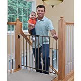 Top of Stairs Metal Décor Swing Gate - Bronze