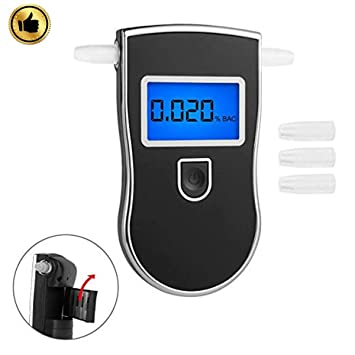 Breathalyzer, Professional Alcohol Detector Breathalyzers Tester Portable Brethalyzer Highly-Accurate Fast Respond Speed Alcohol