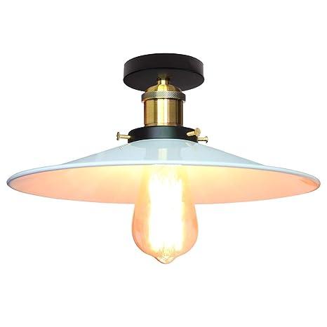 Lámpara de con metal blanco techo de STOEX Retro creativo doerxCBW