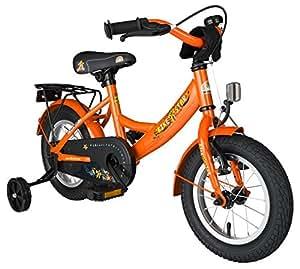 BIKESTAR® 30.5cm (12 pulgada) Bicicleta para un paseo seguro para niños de 3 años ★ Edición Clásico ★ Naranja