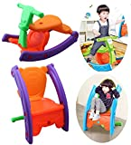 NOVICZ Multi Color 2 in 1 Kids Rocking Horse Chair Kids Baby Toy rocker Baby rocking toy
