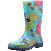 Sloggers  Women's Waterproof Rain and Garden Boot with Comfort Insole, Midsummer Blue, Size 10, Style 5002BL10