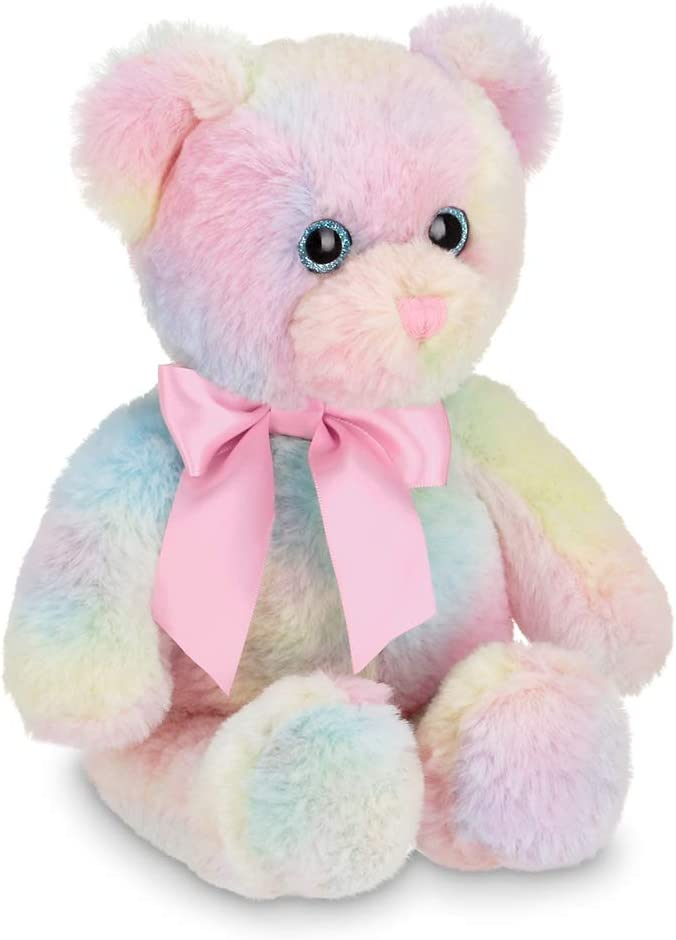 Bearington Candi Rainbow Plush Stuffed Animal Teddy Bear, 12 inches: Toys & Games