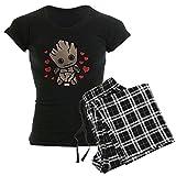 CafePress Groot Hearts Womens Novelty Cotton Pajama Set, Comfortable PJ Sleepwear