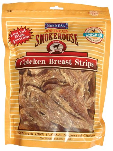 Smokehouse 100-Percent Natural Chicken Breast Strips Dog Treats, 16-Ounce, My Pet Supplies