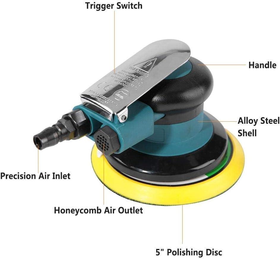 CHUNSHENN 1//4 Air Grinder 10000rpm Pneumatic Sanding Tool Handheld Air Sander Grinder Polisher Pneumatic Polishing Grinding Sanding Tool with Wrench Abrasive Accessories