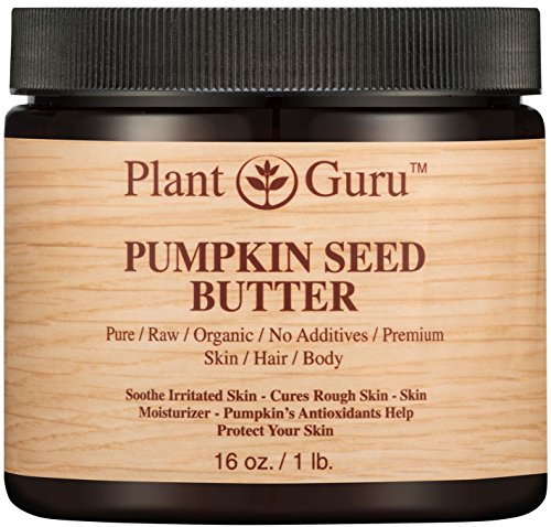 Pumpkin Seed Body Butter 16 oz. 100% Pure Raw Fresh Natural Cold Pressed. Skin Body and Hair Moisturizer, DIY Creams, Balms, Lotions, Soaps.
