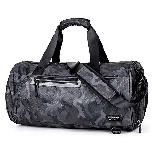 (LST Travel Duffel Bag BackpackSports Gym Bag with Shoes Compartment Large Travel Luggage Duffle Bags Shoulder Tote Bag for Men Women)