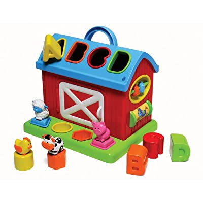 Infantino Barn Shape Sorter (Discontinued by Manufacturer) : Baby Shape And Color Recognition Toys : Baby
