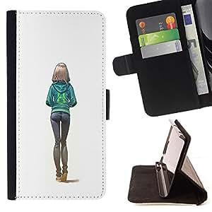 - sexy butt girl white college woman - - Prima caja de la PU billetera de cuero con ranuras para tarjetas, efectivo desmontable correa para l Funny HouseFOR Samsung Galaxy S6 EDGE