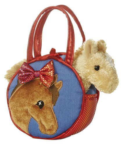 Aurora World Fancy Pals Plush Pretty Pony Pet Carrier Purse ()
