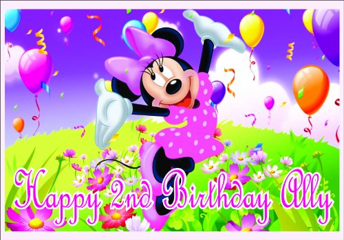 DISNEY Minnie Mouse EDIBLE IMAGES Cake TOPPER