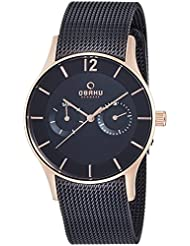 OBAKU V175GMVBMB Mens Wrist Watches, Classic Multifunction Watch with 3 Hands