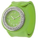Geneva Women's Platinum Silicone Slap Watch