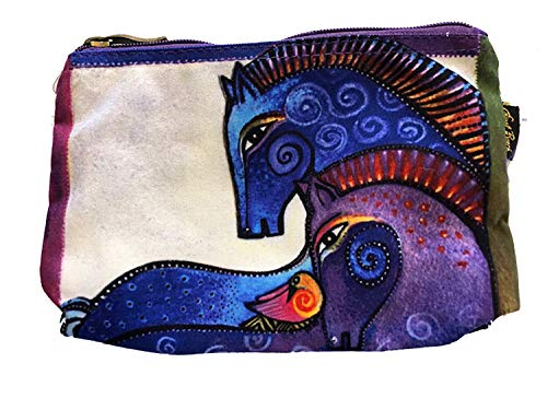 Laurel Burch Mythical Horses Cosmetic Purse (Blue Horse - Burch Mythical Horses Laurel