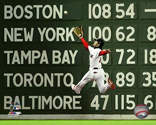 Red Sox World Series Photos - Andrew Benintendi Boston Red Sox 2018 MLB World Series Action Photo (Size: 8