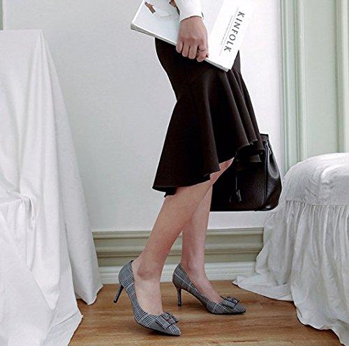 Bene Archetto Sexy profon Mo Alla Donna Ajunr Poco Unico scarpe di tallone trentaquattro tacchi alti 8cm Sandali Scarpe 35 Blu Moda il Da PAw7q8