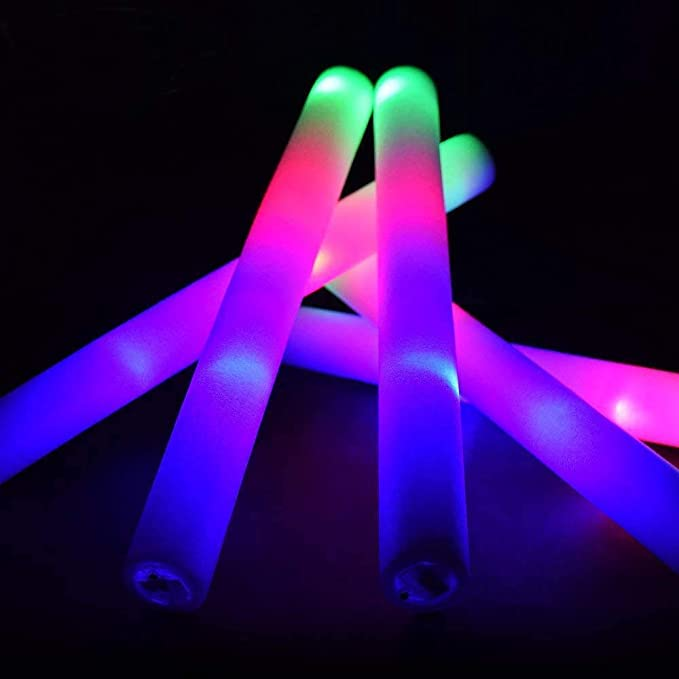 Party 6 x Blue LED Glow Stick Flashing for Concert 21cm. Rave Glow Sticks