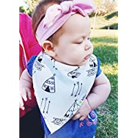 Baby Bandana Drool Bibs for Teething Newborns and Toddlers (8 Pack), Unisex D...