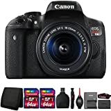Canon EOS Rebel T6i 24.2MP DSLR Camera with 18-55mm Lens and Accessory Bundle
