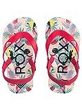 Roxy Girls' TW Tahiti V Flip-Flop, Red, 9 M US