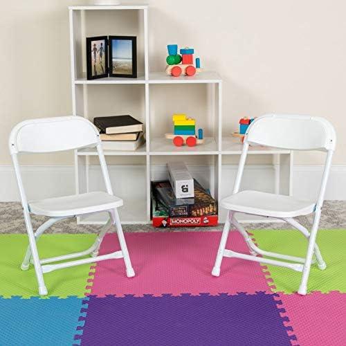 Flash Furniture 10 Pk. Kids White Plastic Folding Chair