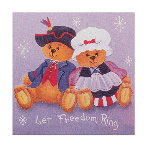 Trademark Global Beverly Johnston 'Pilgrim Bears' Canvas Art