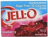 Jell-O Sugar-Free Gelatin Dessert, Raspberry, 0.6 oz